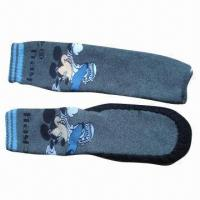 Quality Anti-slip Shoe Socks, Made of Cotton, Polyester and Spandex for sale