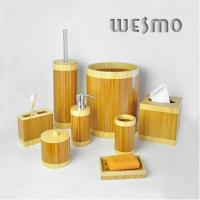 Quality Anti Water Round Shape Bamboo Bathroom Sets for sale