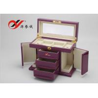 Fashionable Wooden Jewellery Box 3 Drawers 4 Layers Wooden Jewelry Case