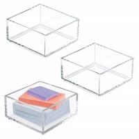 Buy Customized Clear Lucite 4x6 Acrylic Brochure Holders / Paper Sticky Note Pad at wholesale prices
