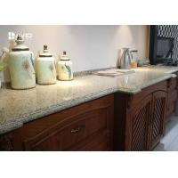 China Beige Sparkle Quartz Worktops Glossy Polished Ogee Edge Scratch Resistant on sale