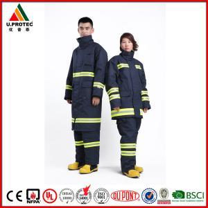 Professional Nomex Fireman Long Coat / Fire Commander Uniform for Men or Women