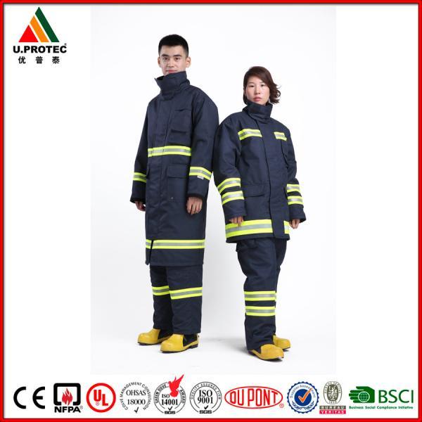 Buy Professional Nomex Fireman Long Coat / Fire Commander Uniform for Men or Women at wholesale prices