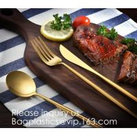 China Cutlery Purple Flatware Tianjin Stainless Steel Cutlery,Elegant Design Stainless Steel Flatware Copper Coating Rose Gold on sale