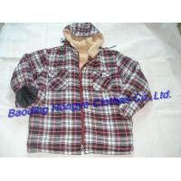 China 100% Polyester Mens Fleece Lined Shirt With Hood on sale
