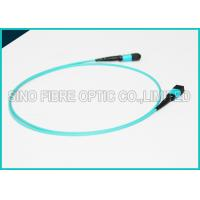 Buy cheap 100Gbps 24 Cores MPO Fiber Optic Cable OM4 Non-pinned Fibre Optical Plenum Jacket Jumper product