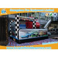 Quality 5*5*4M PVC Tarpaolin Inflatable Bouncy Castle Car Theme Slide for kids for sale