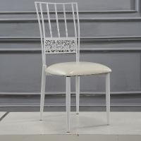 Buy cheap Steel Cafe White Wedding Chairs Rent Wedding Venue Chairs For Dining room from wholesalers