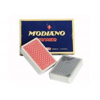 Quality Italian Plastic Ramino Bridge Super Flori Marked Poker Cards Red Blue Index for sale