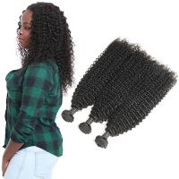 China Grade 9A Kinky Baby Remy Curly Hair Extensions 3 Bundles Raw Human Hair on sale