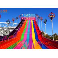 Quality Funny And Exciting High Speed Slide ,  Fiberglass Water Slide Customized Color for sale
