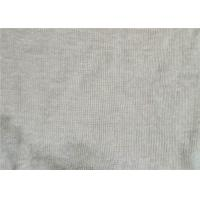 China Breathable Linen Knit Fabric 100% Fine Linen Knitted 1x1 Rib 270 G/M2 on sale