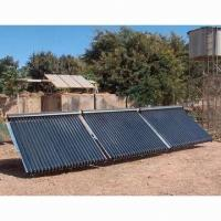 China Hot water, evacuated tube solar collector, used in hotels, resorts hospitals and hostels on sale