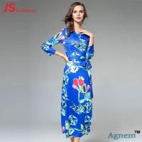 Quality Classical Slim Fit Long Sleeve Cocktail Dresses With Nine Points Sleeve for sale