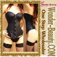 Quality Sexy Black Steel Boned Corset for sale