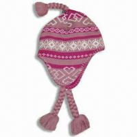 Quality Knitted Hat, Made of 100% Cotton for sale