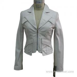 China Ladies' Lamb Nappa Leather Jacket (038) on sale