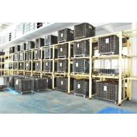 Quality Folding Stackable Steel Wire Mesh Pallet Cage With Galvanized Surface Treatment for sale