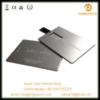 Quality metal credit card shape usb memory disk/usb flash drives for sale