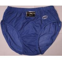 Buy Spandex / Cotton Blue Eco-Friendly Soft Enhancement Plus Size Mens Underwear For Winter at wholesale prices