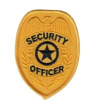 Quality Officer Shoulder Embroidered Custom Iron On Patches Security Guard Patches for sale