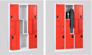 Quality 1850 Height Z Shape Steel Dress Cupboard Small Metal Locker for sale