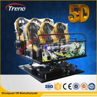 Quality 70 PCS 5D Movies + 7 PCS 7D Shooting Games Safety Theme Park Roller Coasters 5D Cinema Simulator With Hydraulic System for sale