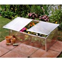 Quality perfect anodized aluminium frame/hollow polycarbonate twin wall sheet cover cold frame kits/mini greenhouse HX63222-1 for sale