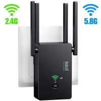 Quality ABS Housing 1200Mbps 2.4GHz 5.8GHz Long Range WiFi Repeater for sale