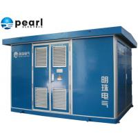 Quality 22 KV - Class Blue Prefabricated Substations Movable Compact Transformer Substation for sale