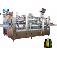China Round Square Glass Bottle Soda Filling Machine 18 Filling Heads 3500kg Weight on sale