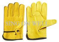 Quality cowhide split leather driver glove for sale