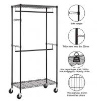 China Heavy Duty Rolling Portable Wardrobe Closet Easy Assembly Without Tools Requirement on sale