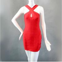China Keyhole Red Short Sleeveless Sexy Evening Gowns Fashion Ladies Dresses on sale