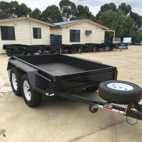 Buy cheap High Side 10x6 Flatbed Tandem Box Trailer With Full Checker Plate from wholesalers