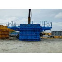 China Painted Surface Steel Column Formwork Adjustable Column Formwork ISO9001 on sale