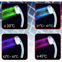 Quality 10-LED RGB Digital Water Temperature Visualizer Chromed Stainless Steel Shower Head for sale
