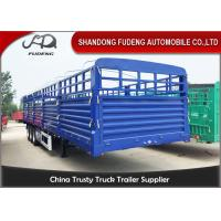 Buy cheap 1500mm Height Tri Axle Side Wall Semi Trailer 3mm Pattern Frame Floor product