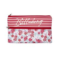 Quality Monogrammed Girl Neoprene Pencil Cases Zipped Nice Practical OEM / ODM for sale