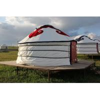 Quality Floral Comfortable Yurt Tent House With National Features External Decorated Cloth for sale
