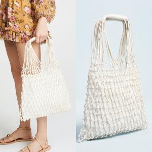 Quality Beach Handbag Fashion Mesh net Bag/straw tote bag/rattan woven straw bag for sale