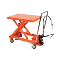 Quality Manual Operating Pneumatic Lift Table Cart Small Scissor For Hospital for sale