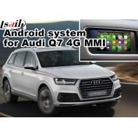 Quality GPS Android Navigation Box Video Interface For 2016 Audi A4 Q7 4G MMI Waze Youtube Wifi for sale