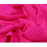 Quality Brazilian Material Wrinkle Jacquard Jersey Knit Fabric 3D Bubble Butt Effect With 4 Ways Stretch for sale