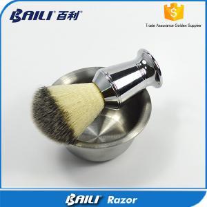 Quality No Floppy Nylon Shaving Brush Hair Knot Metal Heavy Shaving Handle for sale
