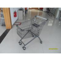 Buy cheap 125L European Metal Shopping Cart With colorful powder coating and wheels from wholesalers