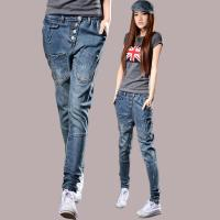 Quality Fireproof Ladies Coloured Straight Leg Ankle Jeans 100 Percent Cotton Denim for sale