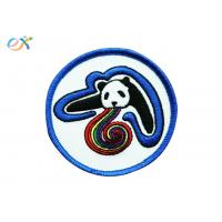 Quality Custom Badge Iron On Embroidered Patches , Personalized Iron On Patches for sale