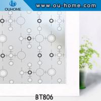 Buy BT806 Popular PVC frosted decortaion stained glass window film at wholesale prices