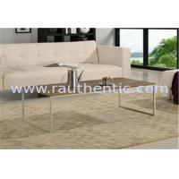 Quality Contemporary Walnut Coffee Table , Metal And Wood Coffee Table Set With Metal Leg for sale
